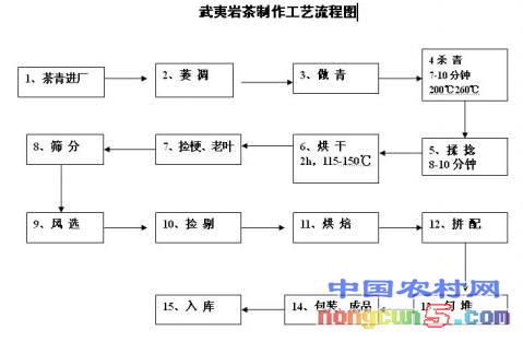 武夷岩茶制作工艺流程