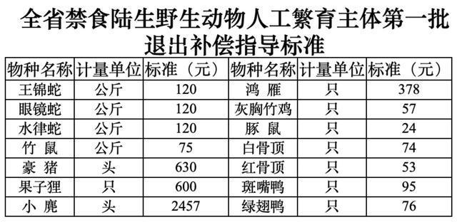 首个省级野生动物养殖退出方案公布,竹鼠每公斤补75元